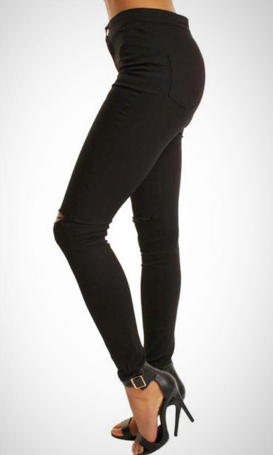 3669f74b6b364 Wholesale Women's High Waisted Black Jean Jeggings – Portobello Punk