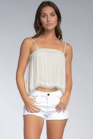 Taupe Stripe Top