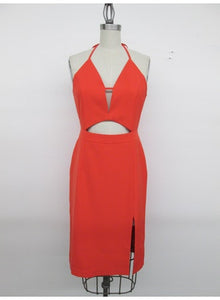 Orange Cutout Dress