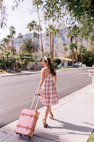 Pink and White Check Dress
