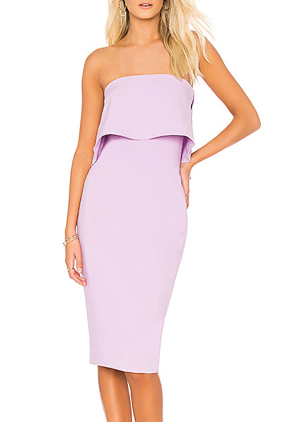 Lilac Driggs Strapless Dress