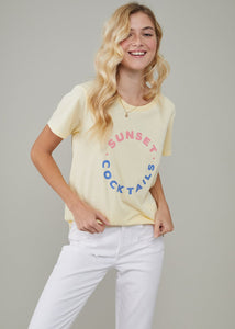 Jane Sunset Cocktails Tee