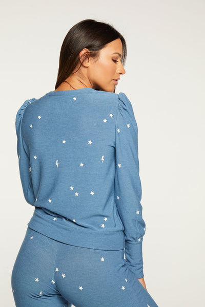 Starry Bolts Pullover