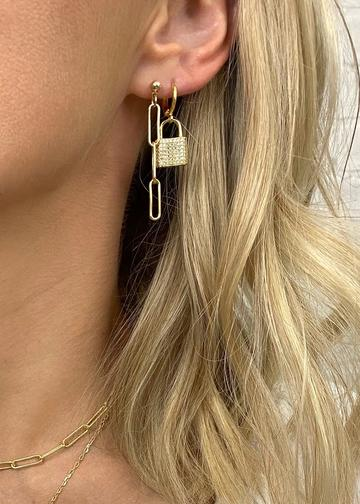 Hitched Lock Earrings