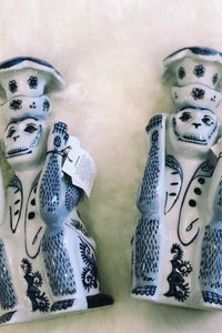 Hear No Evil Candle Stick Pair