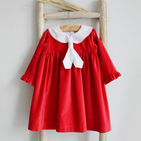 Pukatuka Red Velvet Dress