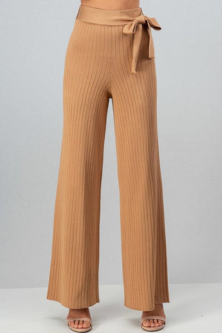 Knit Belt Pants