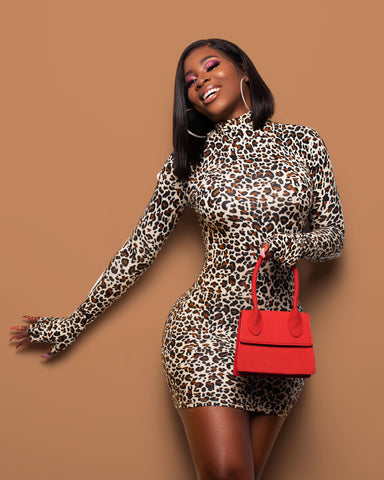 Cheetah Glove Dress