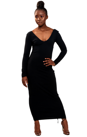 Bad with a Hint of Bougie Off the Shoulder Dress- Black