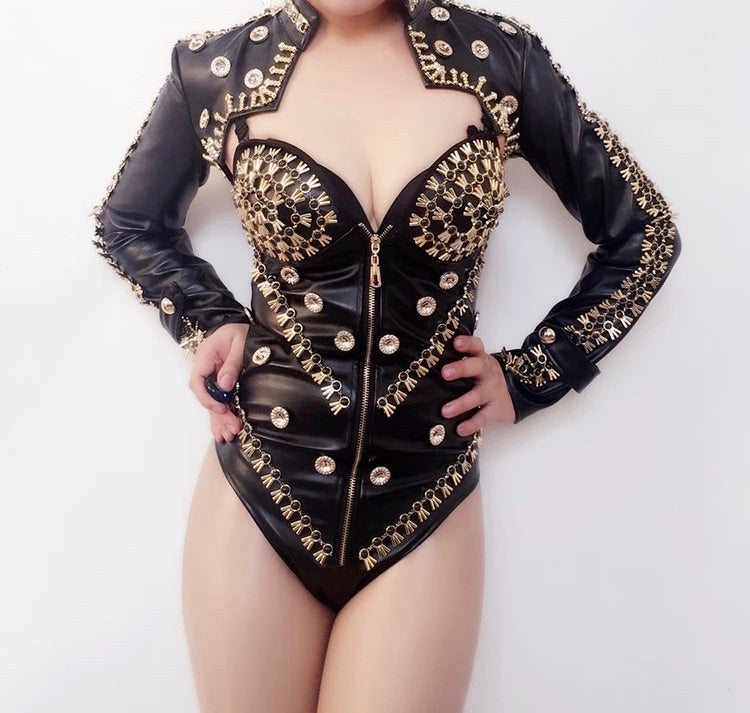 Bling Bodysuit With Jacket