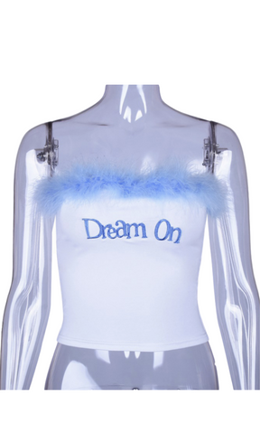 Dream On Bih Crop Tube Top