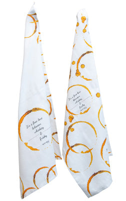 """Frisky"" Tea Towel - set of 2"