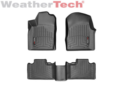 WeatherTech Floor Mat FloorLiner for Grand Cherokee/Durango - 1st/2nd Row- Black 444851-443242