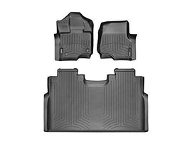 Weathertech Floor Liners-Full Set 1st Row Bucket Seating (Includes 1st and 2nd Row)-Fits 2015-2017 Ford F-150-  Supercrew Models Only-Black 446971-446972 | FREE SHIPPING