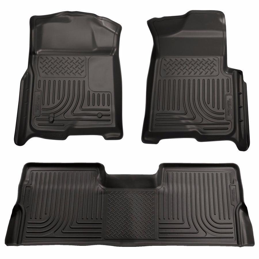 Husky WeatherBeater Floor Mat Set 2008-2010 Ford F-250/F-350 Crew Cab Black