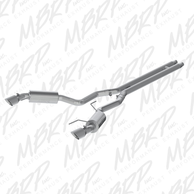 "MBRP 15-17 Ford Mustang GT 5.0 3"" Cat Back, Dual Split Rear, Street Version, 4.5"