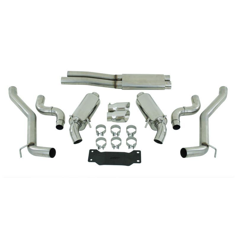 "MBRP 2.5"" EXHAUST 10-15 CHEVROLET CAMARO 6.2L AUTOMATIC DUAL T304 STAINLESS"