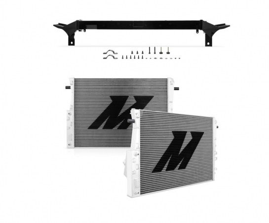 MISHIMOTO 2008-2010 Ford 6.4L Powerstroke Aluminum Radiator W/ Upper Support Bar