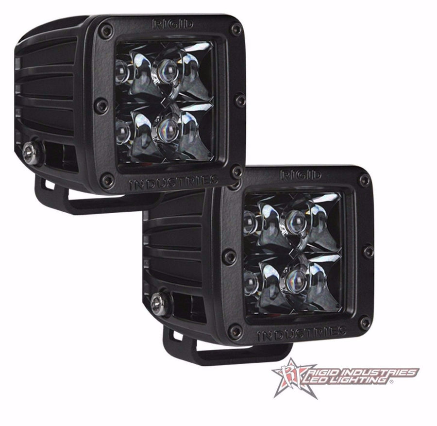 RIGID INDUSTRIES MIDNIGHT EDITION D-SERIES SPOT LED LIGHT PAIR BLACK