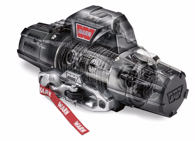 Warn 89611 ZEON 10-S Premium Series Winch with Synthetic Rope 10000 lb. Capacity