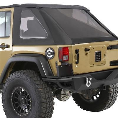 SmittyBilt Bowless Combo Soft Top Kit w/Tinted Windows 07-17 Jeep JK 4 door