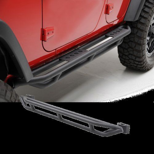 SmittyBilt SRC Side Armor-Black Textured Jeep 07-13 Jeep Wrangler (JK)-4 Door