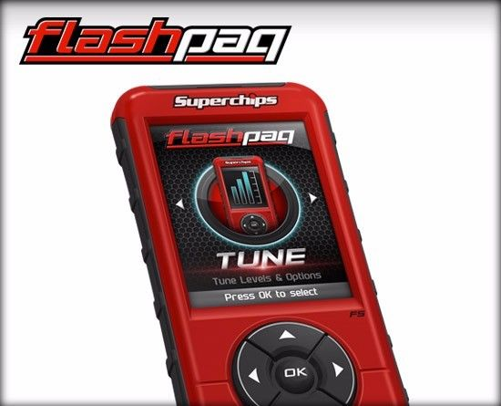 SUPERCHIPS FLASHPAQ F5 TUNER FOR 99-16 FORD F150 F250 F350 GAS