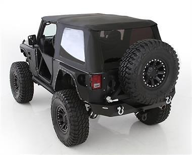 SmittyBilt Bowless Combo Soft Top Kit w/Tinted Windows 07-17 Jeep JK 2 door