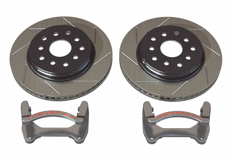 TeraFlex Front Performance Big Rotor Kit Slotted Rotors 07-16 Jeep Wrangler JK