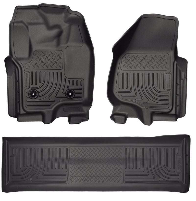 Husky WeatherBeater Floor Mats 2012-2016 Ford F-250/F-350/F-450 Crew Cab Black