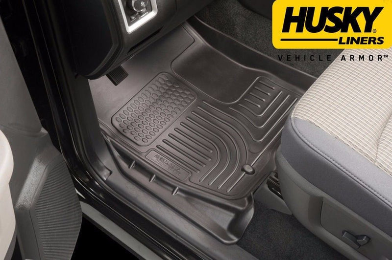 Husky WeatherBeater 1st & 2nd Row Floor Mats 09-2014 Ford F-150 SuperCrew Black