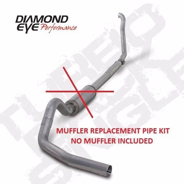"Diamond Eye 4"" TurboBack Exhaust for 94-02 Dodge Ram 2500 3500 5.9L W/O Muffler"