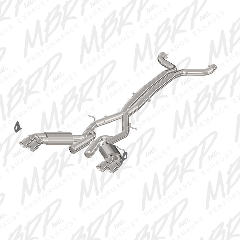 "MBRP 3"" CAT BACK DUAL EXHAUST 16-17 CHEVY CAMARO 6.2L V8 6 SPEED ALUMINIZED"