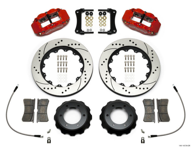 Wilwood 05-15 Tacoma Superlite Red 6R Front Kit 14in Drilled Rotor w/ Lines
