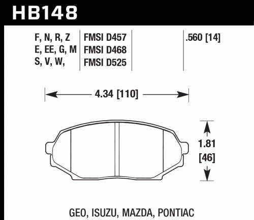 Hawk Performance 89-93 Miata MX5 Street Front Brake Pads