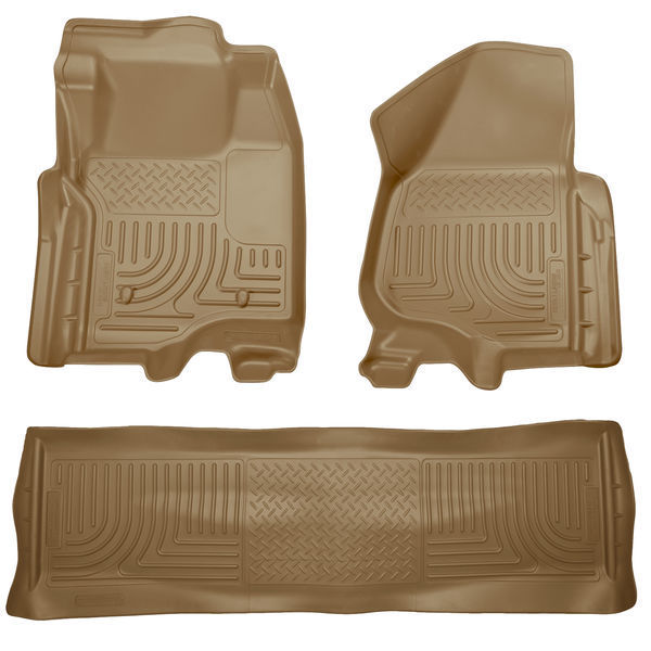 HUSKY FLOOR LINERS WEATHERBEATER FORD F250 F350 F450 SUPERCREW 11-12