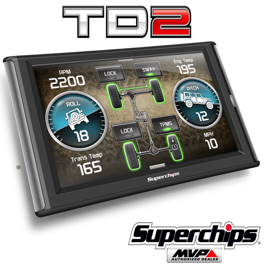 Superchips TrailDash2 TD2 Tuner Programmer Gauge for Jeep Wrangler JK TJ