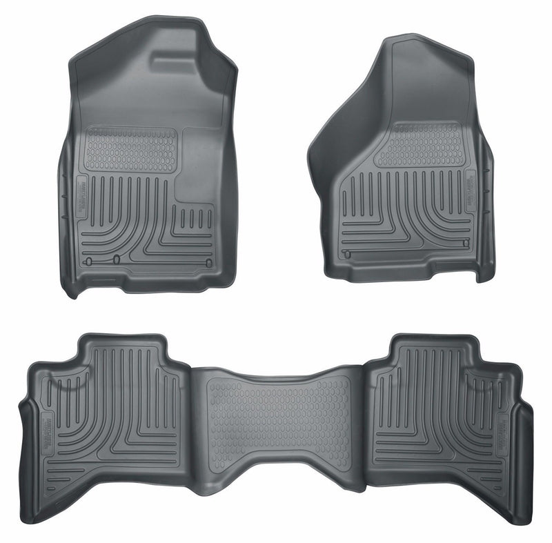 Husky WeatherBeater Floor Mats 02-09 Ram 1500|03-10 Ram 2500/3500 Quad Cab Grey