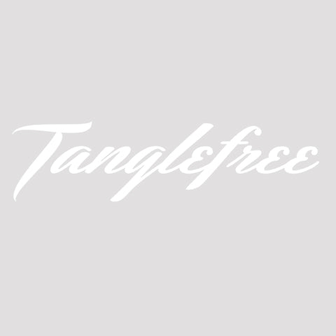 tanglefree-script-white-decal