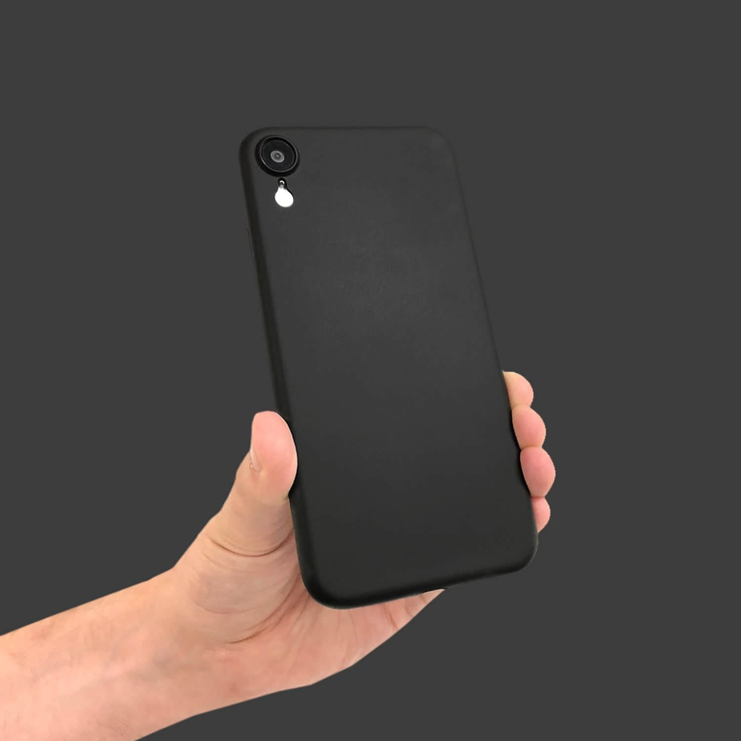 black iphone xr case and screen protector