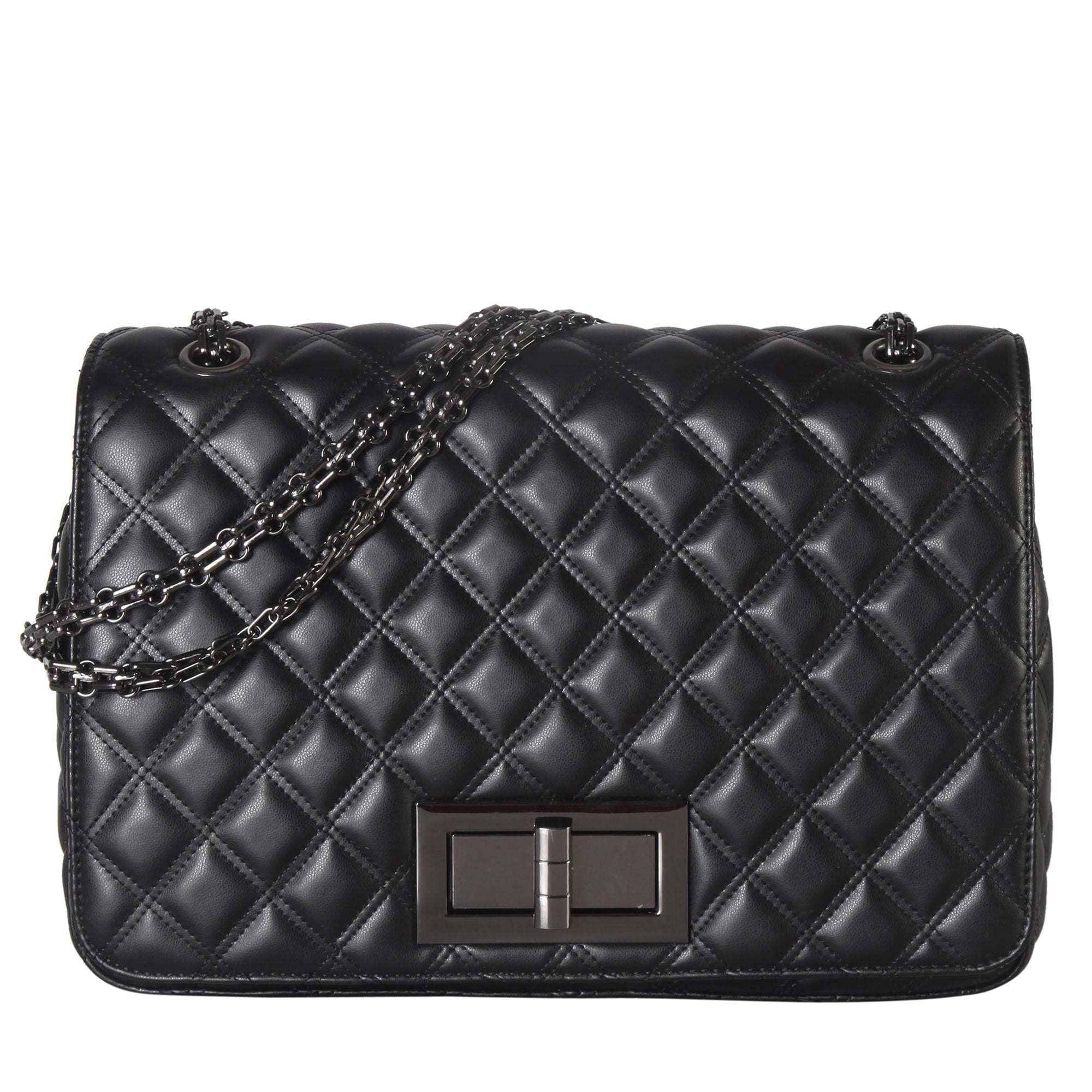 Large Quilted Pattern Crossbody Handbag
