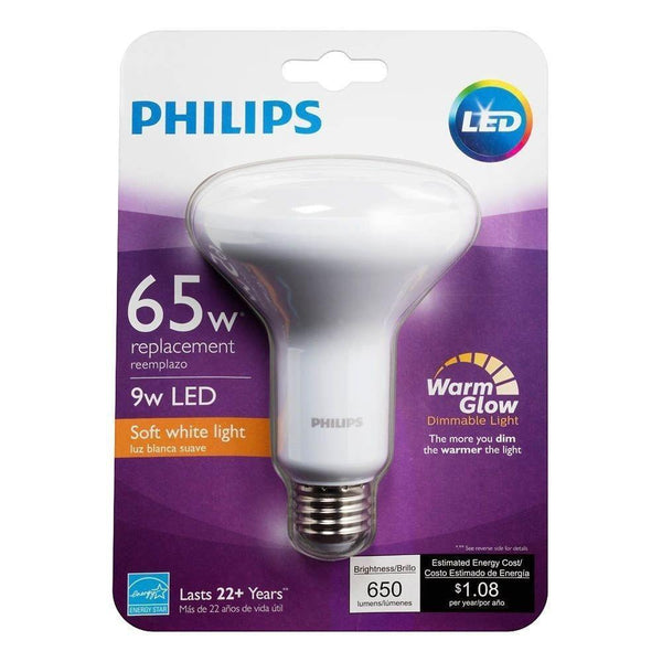 Philips 65-Watt Equivalent Warm/Soft White BR-30 LED (6-Pack) image 687540600881