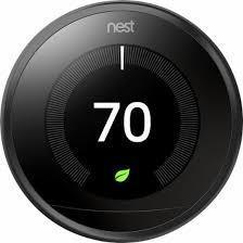 3rd Gen Nest Learning Thermostat - Black image 687582347313