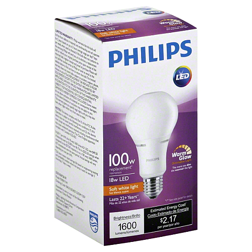 Philips 18w LED A21 (6 Pack) image 687549579313