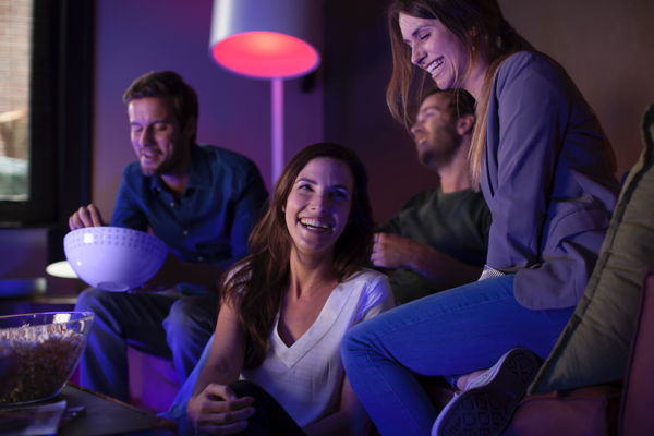 Philips Hue White and Color Ambiance A19 Single Bulb image 687545778225