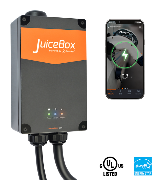 JuiceBox® Pro 40 Wi-Fi-enabled EV Charging Station - 40 Amps (Hardwired) image 5489010507825