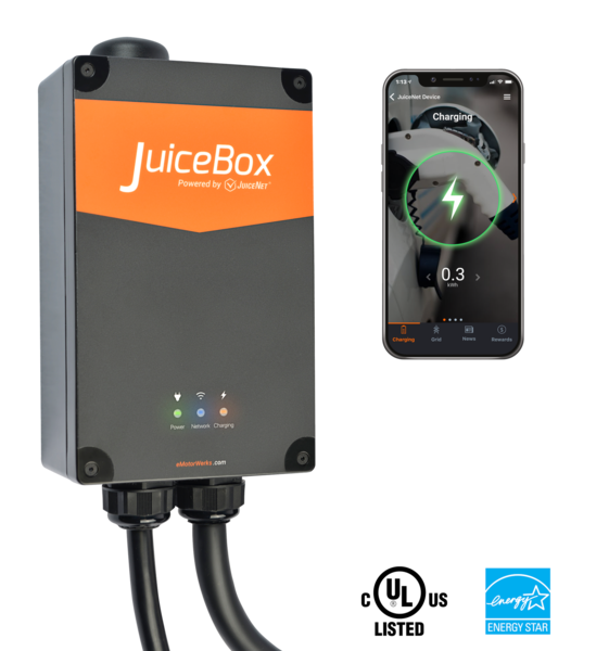JuiceBox® Pro 40 Wi-Fi-enabled EV Charging Station - 40 Amps (Plug-In) image 5495245930545