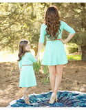 Elegant Party Mother Daughter Matching Dress