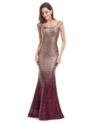 Long Sparkle Evening Dress