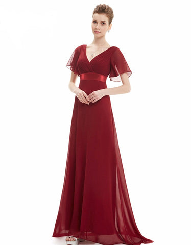 Glamorous Double V-Neck Evening Dress